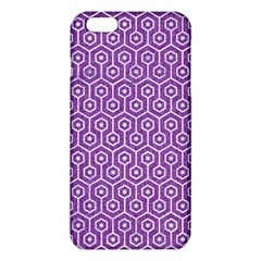 HEXAGON1 WHITE MARBLE & PURPLE DENIM iPhone 6 Plus/6S Plus TPU Case