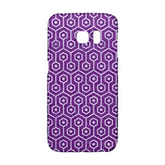 HEXAGON1 WHITE MARBLE & PURPLE DENIM Galaxy S6 Edge