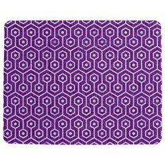 HEXAGON1 WHITE MARBLE & PURPLE DENIM Jigsaw Puzzle Photo Stand (Rectangular)