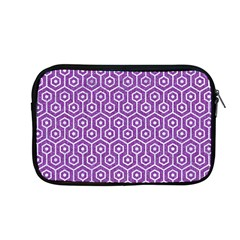 HEXAGON1 WHITE MARBLE & PURPLE DENIM Apple MacBook Pro 13  Zipper Case