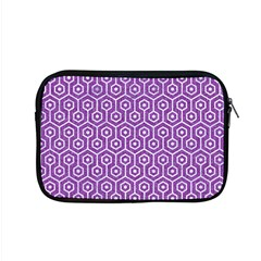 HEXAGON1 WHITE MARBLE & PURPLE DENIM Apple MacBook Pro 15  Zipper Case