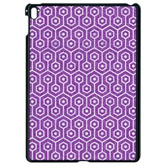 Hexagon1 White Marble & Purple Denim Apple Ipad Pro 9 7   Black Seamless Case by trendistuff
