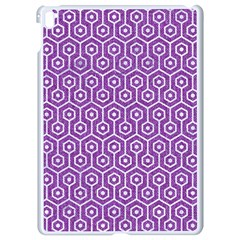 Hexagon1 White Marble & Purple Denim Apple Ipad Pro 9 7   White Seamless Case by trendistuff