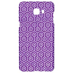 HEXAGON1 WHITE MARBLE & PURPLE DENIM Samsung C9 Pro Hardshell Case