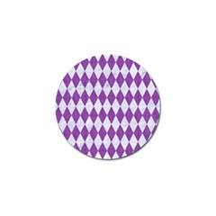 Diamond1 White Marble & Purple Denim Golf Ball Marker by trendistuff