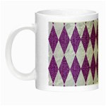 DIAMOND1 WHITE MARBLE & PURPLE DENIM Night Luminous Mugs Left