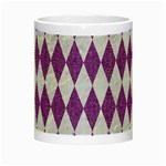 DIAMOND1 WHITE MARBLE & PURPLE DENIM Night Luminous Mugs Center