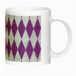 DIAMOND1 WHITE MARBLE & PURPLE DENIM Night Luminous Mugs Right