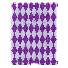Diamond1 White Marble & Purple Denim Apple Ipad 3/4 Hardshell Case (compatible With Smart Cover) by trendistuff