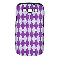 Diamond1 White Marble & Purple Denim Samsung Galaxy S Iii Classic Hardshell Case (pc+silicone) by trendistuff