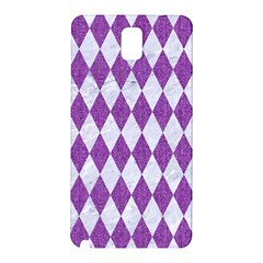 Diamond1 White Marble & Purple Denim Samsung Galaxy Note 3 N9005 Hardshell Back Case