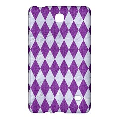 Diamond1 White Marble & Purple Denim Samsung Galaxy Tab 4 (7 ) Hardshell Case