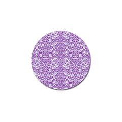 Damask2 White Marble & Purple Denim (r) Golf Ball Marker (10 Pack) by trendistuff