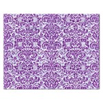 DAMASK2 WHITE MARBLE & PURPLE DENIM (R) Rectangular Jigsaw Puzzl Front