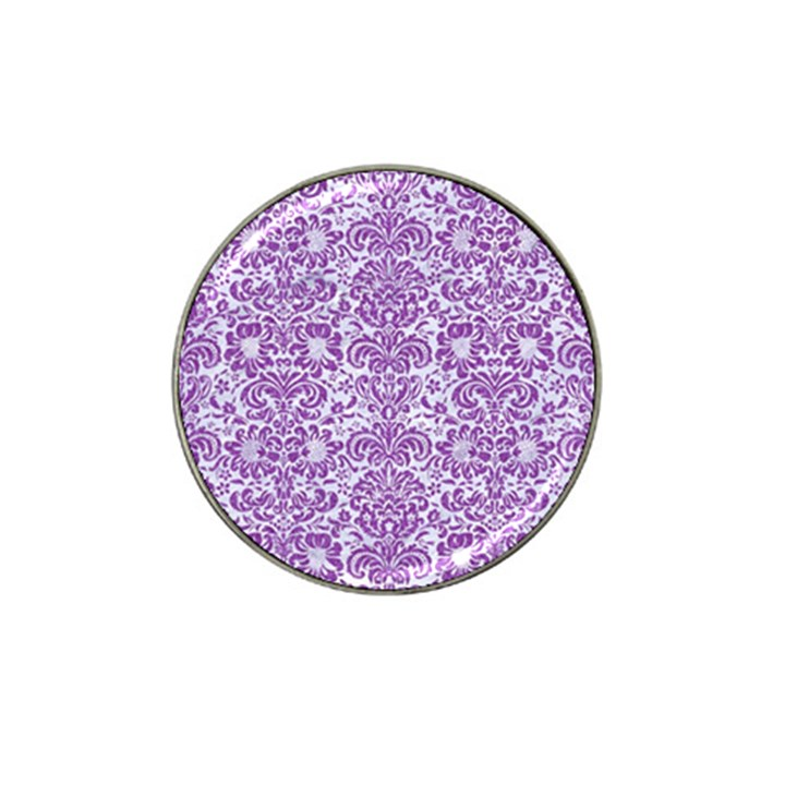 DAMASK2 WHITE MARBLE & PURPLE DENIM (R) Hat Clip Ball Marker (10 pack)