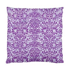 Damask2 White Marble & Purple Denim (r) Standard Cushion Case (two Sides) by trendistuff