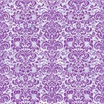 DAMASK2 WHITE MARBLE & PURPLE DENIM (R) Magic Photo Cubes Side 1