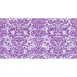 DAMASK2 WHITE MARBLE & PURPLE DENIM (R) Magic Photo Cubes Long Side 1