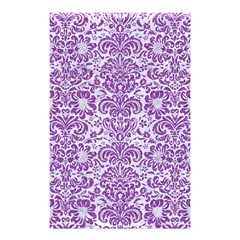 Damask2 White Marble & Purple Denim (r) Shower Curtain 48  X 72  (small)  by trendistuff