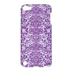 Damask2 White Marble & Purple Denim (r) Apple Ipod Touch 5 Hardshell Case by trendistuff