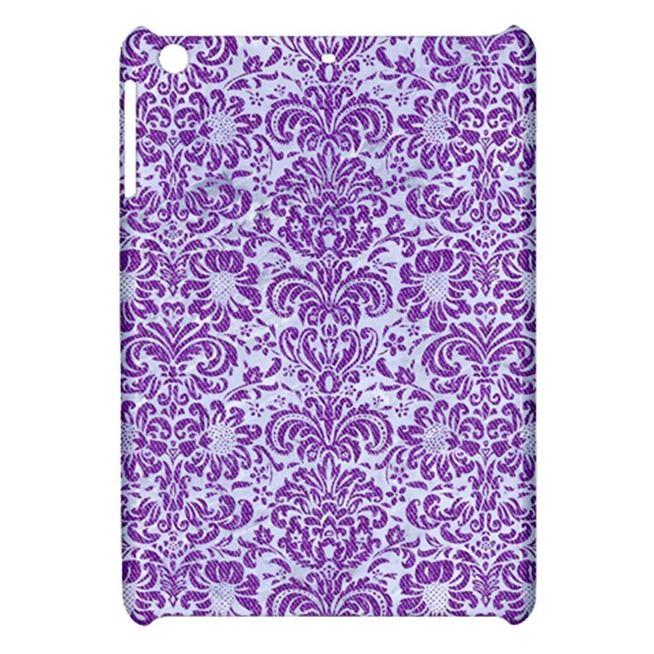 DAMASK2 WHITE MARBLE & PURPLE DENIM (R) Apple iPad Mini Hardshell Case