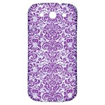 DAMASK2 WHITE MARBLE & PURPLE DENIM (R) Samsung Galaxy S3 S III Classic Hardshell Back Case Front