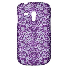 Damask2 White Marble & Purple Denim (r) Galaxy S3 Mini by trendistuff