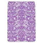 DAMASK2 WHITE MARBLE & PURPLE DENIM (R) Flap Covers (L)  Front