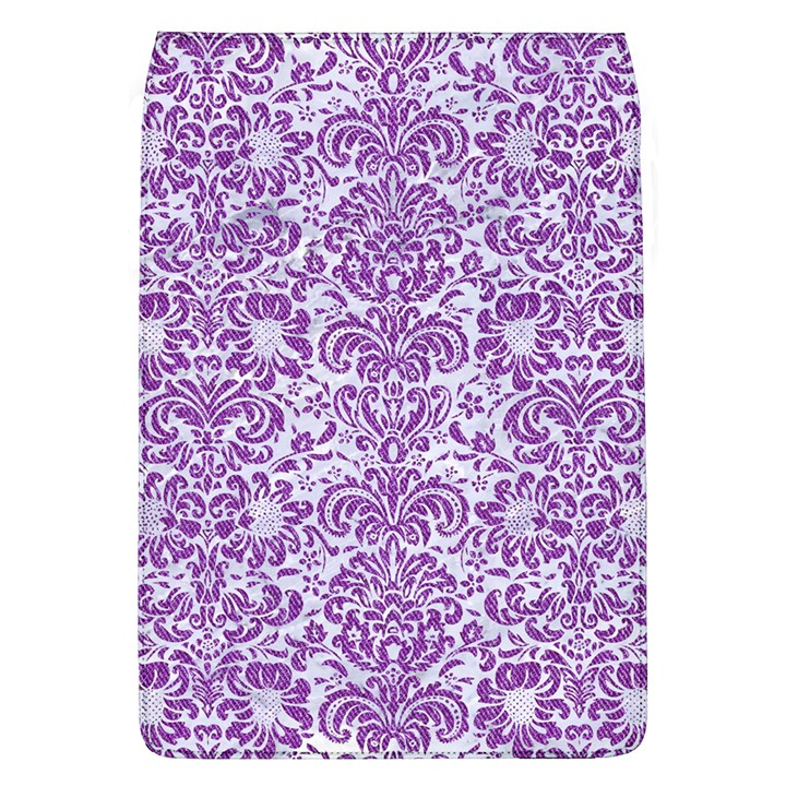 DAMASK2 WHITE MARBLE & PURPLE DENIM (R) Flap Covers (L)