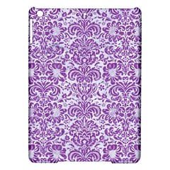 Damask2 White Marble & Purple Denim (r) Ipad Air Hardshell Cases by trendistuff