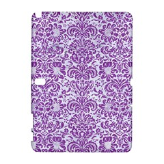 Damask2 White Marble & Purple Denim (r) Galaxy Note 1 by trendistuff