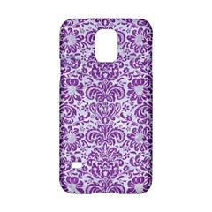 Damask2 White Marble & Purple Denim (r) Samsung Galaxy S5 Hardshell Case  by trendistuff