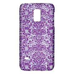 Damask2 White Marble & Purple Denim (r) Galaxy S5 Mini by trendistuff