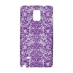 Damask2 White Marble & Purple Denim (r) Samsung Galaxy Note 4 Hardshell Case by trendistuff