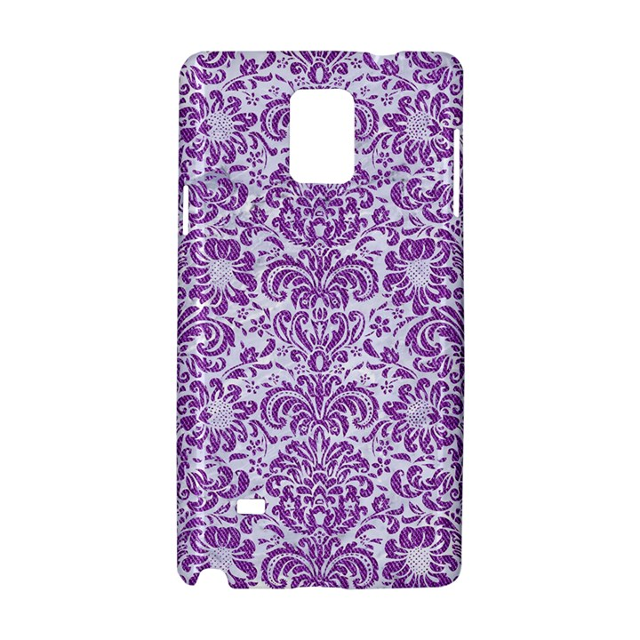 DAMASK2 WHITE MARBLE & PURPLE DENIM (R) Samsung Galaxy Note 4 Hardshell Case