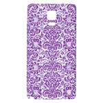DAMASK2 WHITE MARBLE & PURPLE DENIM (R) Galaxy Note 4 Back Case Front