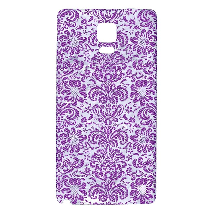 DAMASK2 WHITE MARBLE & PURPLE DENIM (R) Galaxy Note 4 Back Case