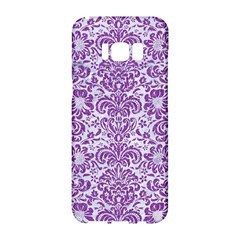 Damask2 White Marble & Purple Denim (r) Samsung Galaxy S8 Hardshell Case  by trendistuff