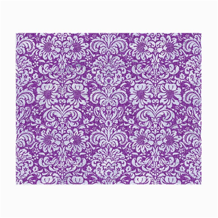 DAMASK2 WHITE MARBLE & PURPLE DENIM Small Glasses Cloth (2-Side)