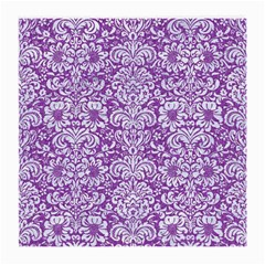 Damask2 White Marble & Purple Denim Medium Glasses Cloth by trendistuff