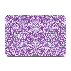 Damask2 White Marble & Purple Denim Plate Mats