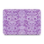 DAMASK2 WHITE MARBLE & PURPLE DENIM Plate Mats 18 x12 Plate Mat - 1