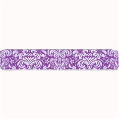 Damask2 White Marble & Purple Denim Small Bar Mats by trendistuff