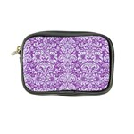 DAMASK2 WHITE MARBLE & PURPLE DENIM Coin Purse Front