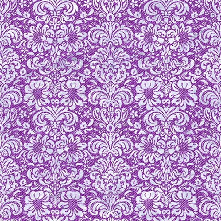 DAMASK2 WHITE MARBLE & PURPLE DENIM Magic Photo Cubes