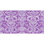 DAMASK2 WHITE MARBLE & PURPLE DENIM Magic Photo Cubes Long Side 1