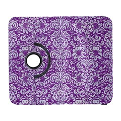Damask2 White Marble & Purple Denim Galaxy S3 (flip/folio) by trendistuff