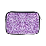 DAMASK2 WHITE MARBLE & PURPLE DENIM Apple iPad Mini Zipper Cases Front
