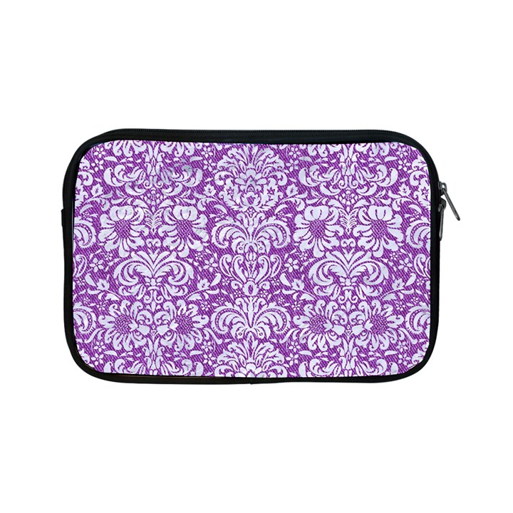 DAMASK2 WHITE MARBLE & PURPLE DENIM Apple iPad Mini Zipper Cases