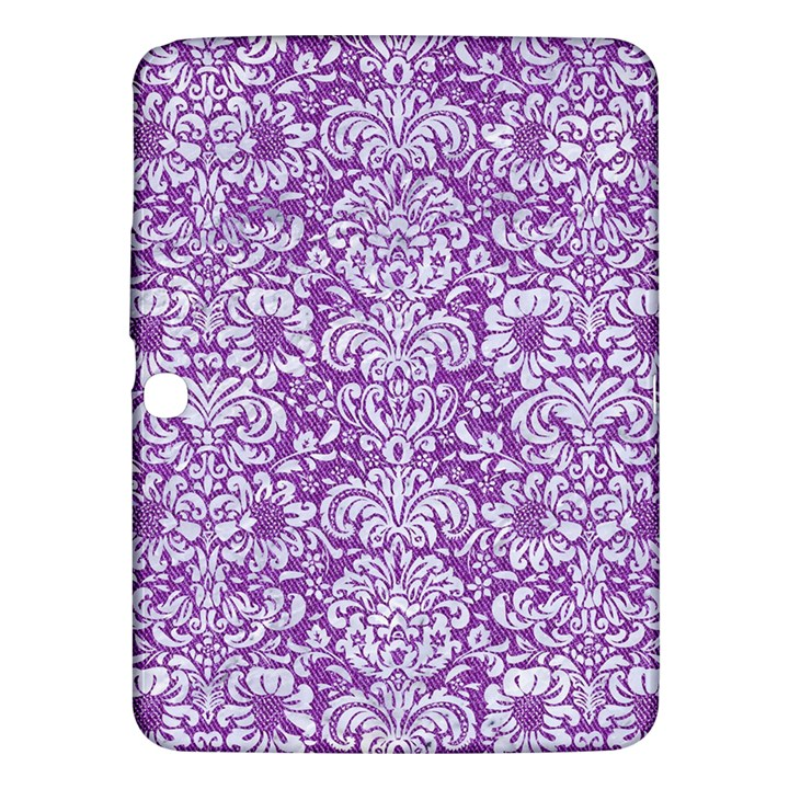 DAMASK2 WHITE MARBLE & PURPLE DENIM Samsung Galaxy Tab 3 (10.1 ) P5200 Hardshell Case